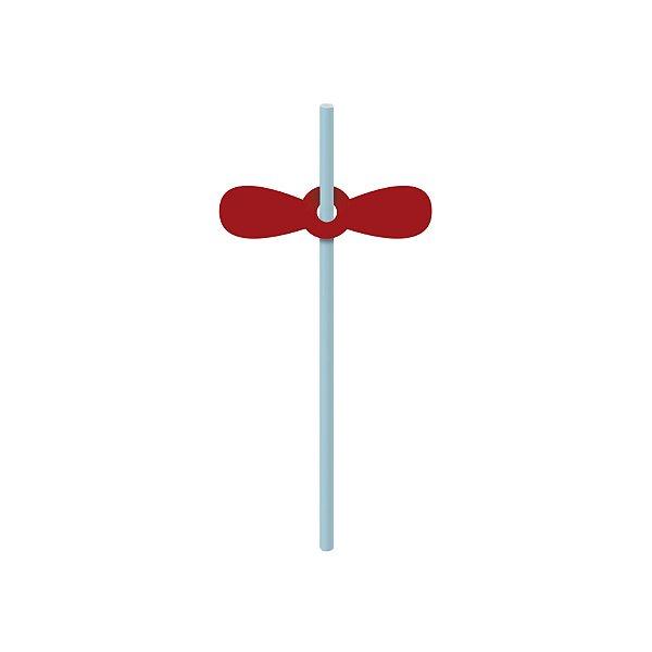 Canudo de Papel Festa Aventureiro com Aplique - 20 unidades - Cromus - Rizzo Festas