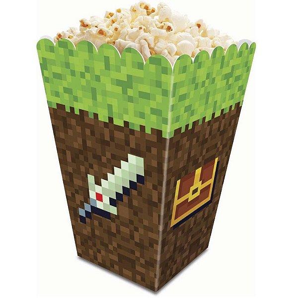 Caixa Pipoca Festa Minecraft - 8 unidades - Junco - Rizzo Festas