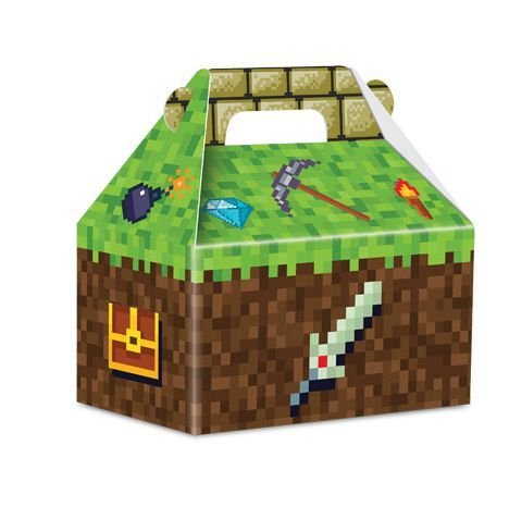 Caixa Surpresa Maleta Festa Minecraft - 8 unidades - Junco - Rizzo Festas