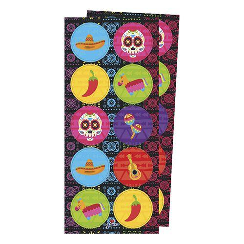 Adesivo Redondo para Lembrancinha Festa Mexicana - 30 unidades - Junco - Rizzo Festas