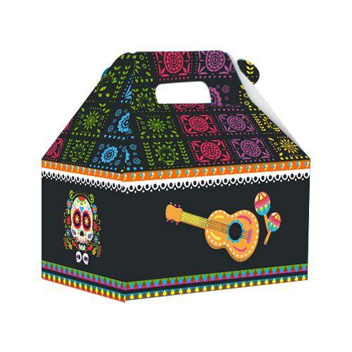 Caixa Surpresa Maleta Festa Mexicana - 8 unidades - Junco - Rizzo Festas