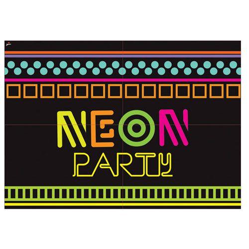 Painel Decorativo Festa Neon - Junco - Rizzo Festas