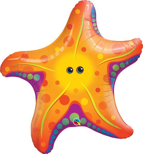 Balão Metalizado Estrela do Mar Festa Sereia - 30'' - Qualatex - Rizzo festas