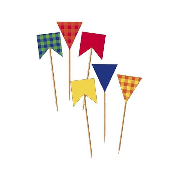 Pick Decorativo Colorido Sortido Festa Junina - 24 unidades - Cromus - Rizzo Festas