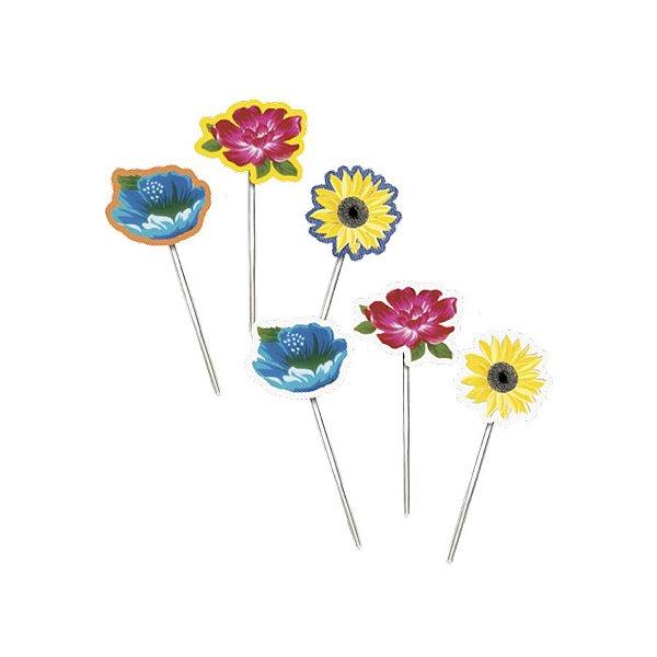 Pick Decorativo Flores Sortido Festa Junina - 12 unidades - Cromus - Rizzo Festas
