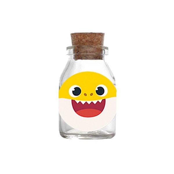 Potinho de Vidro com Rolha 50ml Lembrancinha Festa Baby Shark - 10 unidades -  Rizzo Festas