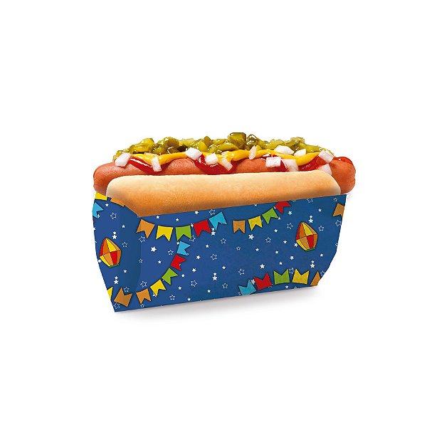 Saquinho para Hot Dog Azul 17,5x9x5cm Festa Junina - 50 unidades - Cromus - Rizzo Festas