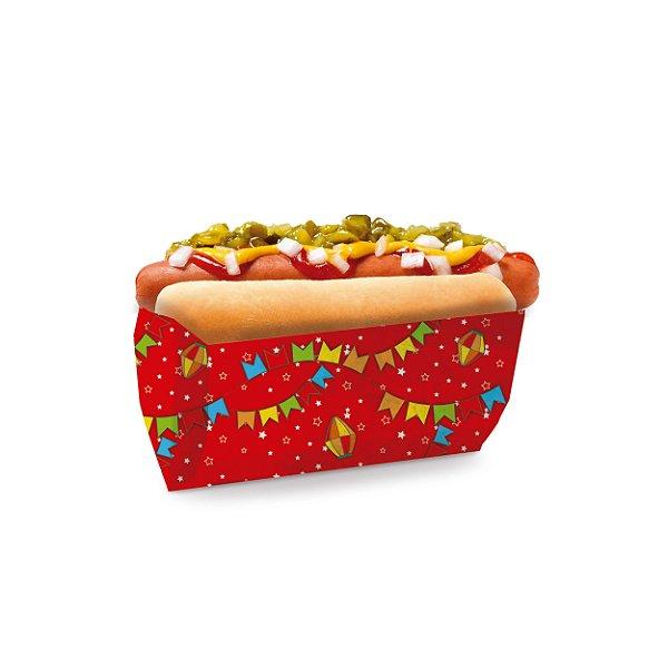 Saquinho para Hot Dog Vermelho 17,5x9x5cm Festa Junina - 50 unidades - Cromus - Rizzo Festas