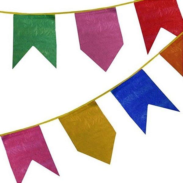Bandeirão Festa Junina de Plástico 10 Metros - Rizzo Festas