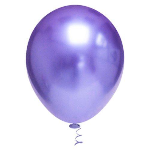 Balão de Festa Metálico 9'' 23cm - Roxo - 25 unidades - São Roque - Rizzo Festas