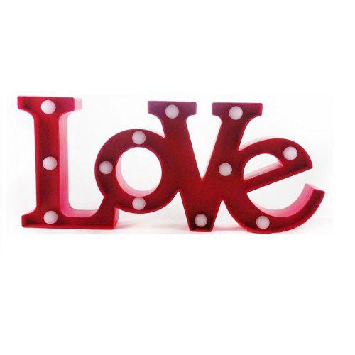 Luminária LED Love Vermelho - 01 unidade - Rizzo Festas