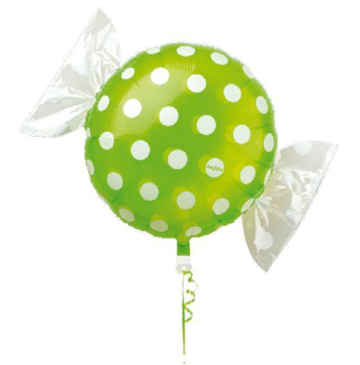 Balão Metalizado Candy Poá Verde 18'' 5 unidades - Sempertex Cromus - Rizzo Festas