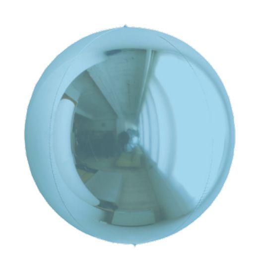 Balão Metalizado Esphera Azul Claro 20'' - 01 unidade - Sempertex Cromus - Rizzo Festas
