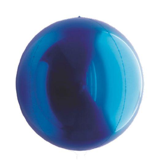 Balão Metalizado Esphera Azul 20'' - 01 unidade - Sempertex Cromus - Rizzo Festas