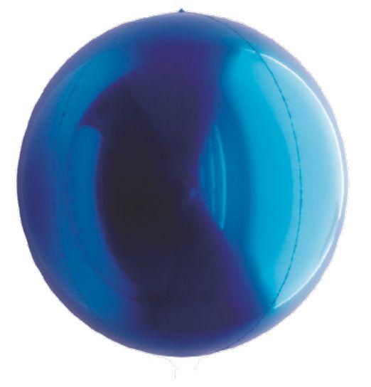Balão Metalizado Esphera Azul 24'' - 01 unidade - Sempertex Cromus - Rizzo Festas