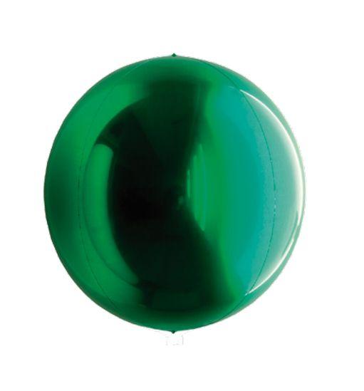 Balão Metalizado Esphera Verde 15'' 5 unidades - Sempertex Cromus - Rizzo Festas