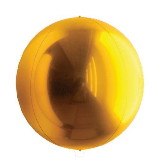 Balão Metalizado Esphera Ouro 20'' - 01 unidade - Sempertex Cromus - Rizzo Festas