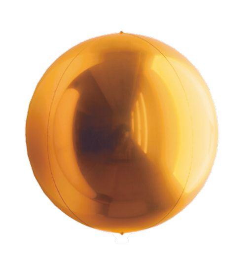 Balão Metalizado Esphera Ouro Profundo 20'' - 01 unidade - Sempertex Cromus - Rizzo Festas