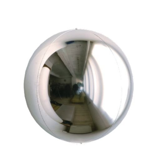 Balão Metalizado Esphera Prata 15'' - 01 unidade - Sempertex Cromus - Rizzo Festas