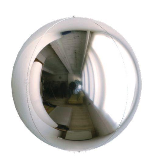 Balão Metalizado Esphera Prata 20'' - 01 unidade - Sempertex Cromus - Rizzo Festas