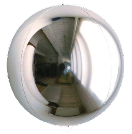 Balão Metalizado Esphera Prata 24'' - 01 unidade - Sempertex Cromus - Rizzo Festas