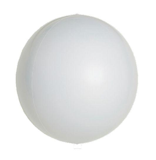 Balão Metalizado Esphera Branco 20'' - 01 unidade - Sempertex Cromus - Rizzo Festas