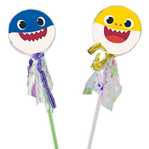 Pirulito Lembrancinha Festa Baby Shark - 10 unidades -  Rizzo Festas