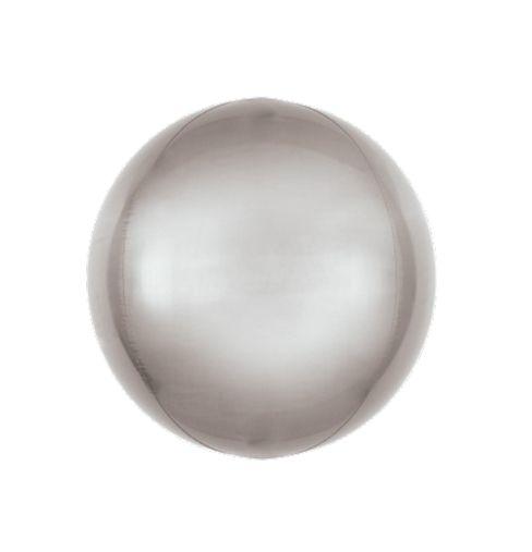 Balão Bubble Prata 18'' 45cm - 5 unidades - Sempertex Cromus - Rizzo Festas