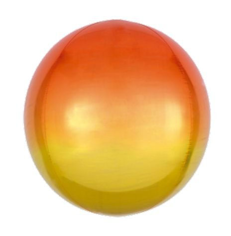 Balão Bubble Degradê Dourado 18'' 5 unidades - Sempertex Cromus - Rizzo Festas