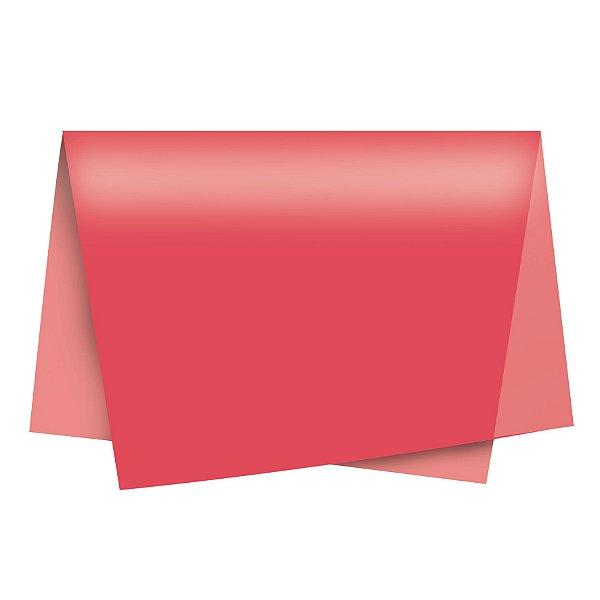 Papel de Seda - 49x69cm - Goiaba - 10 folhas - Rizzo Embalagens
