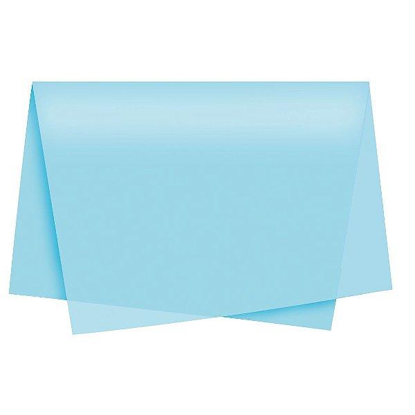Papel de Seda - 49x69cm - Azul Claro - 10 folhas - Rizzo Embalagens