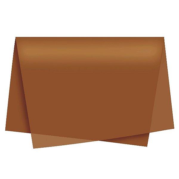 Papel de Seda - 49x69cm - Bronze - 10 folhas - Rizzo Embalagens