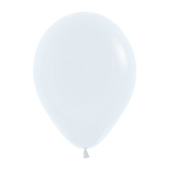 Balão de Festa Latex R12'' 30cm - Fashion Branco - 50 unidades - Sempertex Cromus - Rizzo Festas