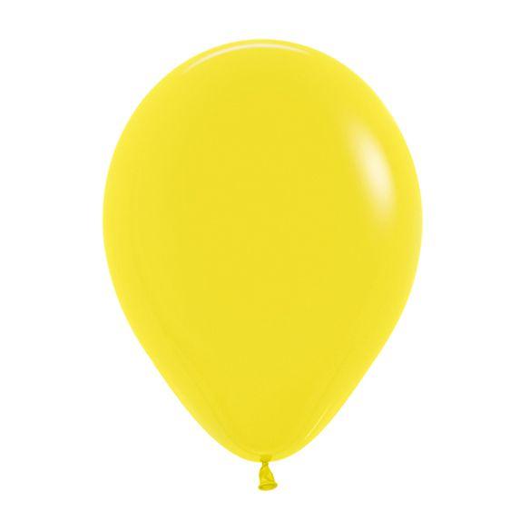 Balão de Festa Latex R12'' 30cm - Fashion Amarelo - 50 unidades - Sempertex Cromus - Rizzo Festas