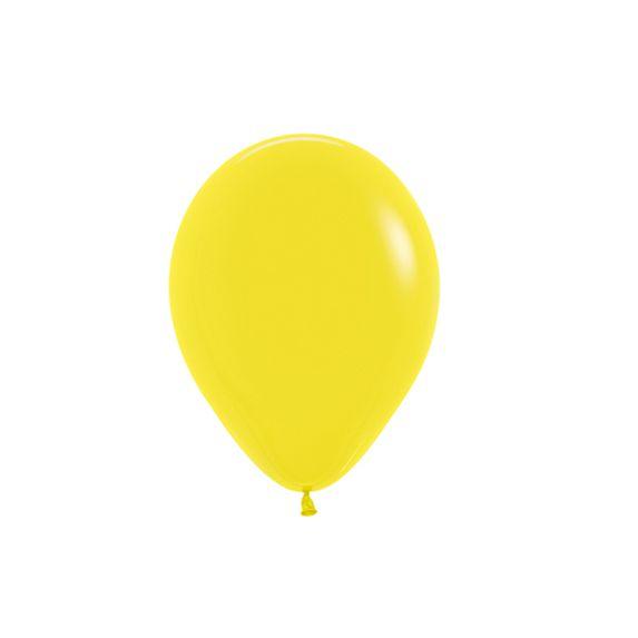 Balão de Festa Latex R5'' 12cm - Fashion Amarelo - 50 unidades - Sempertex Cromus - Rizzo Festas