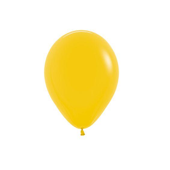 Balão de Festa Latex R5'' 12cm - Fashion Girassol - 50 unidades - Sempertex Cromus - Rizzo Festas