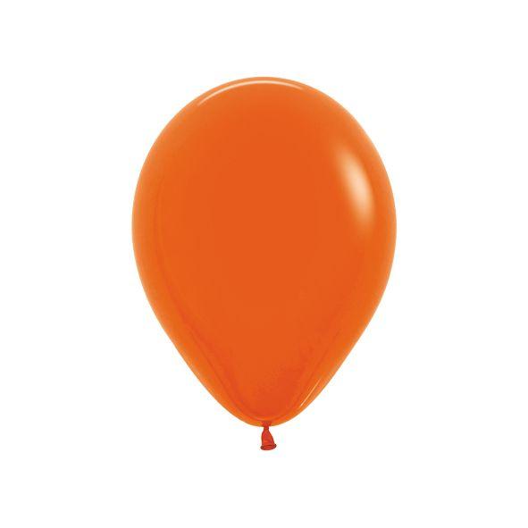Balão de Festa Latex R10'' 25cm - Fashion Laranja - 50 unidades - Sempertex Cromus - Rizzo Festas