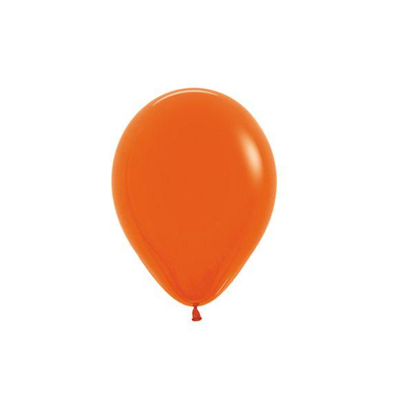 Balão de Festa Latex R5'' 12cm - Fashion Laranja - 50 unidades - Sempertex Cromus - Rizzo Festas