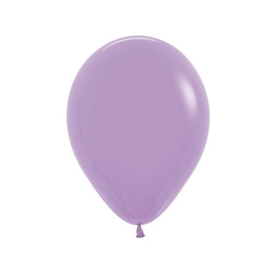 Balão de Festa Latex R10'' 25cm - Fashion Lilás - 50 unidades - Sempertex Cromus - Rizzo Festas