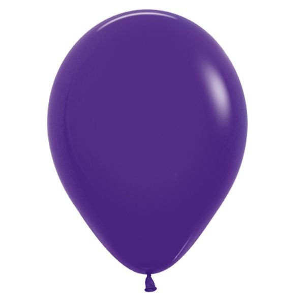 Balão de Festa Latex R12'' 30cm - Fashion Violeta - 50 unidades - Sempertex Cromus - Rizzo Festas