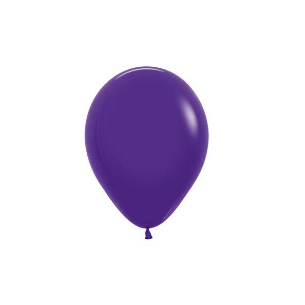 Balão de Festa Latex R5'' 12cm - Fashion Violeta - 50 unidades - Sempertex Cromus - Rizzo Festas