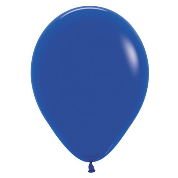 Balão de Festa Latex R12'' 30cm - Fashion Azul Royal - 50 unidades - Sempertex Cromus - Rizzo Festas
