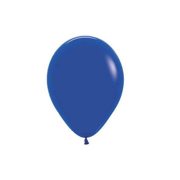 Balão de Festa Latex R5'' 12cm - Fashion Azul Royal - 50 unidades - Sempertex Cromus - Rizzo Festas