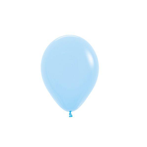 Balão de Festa Latex R5'' 12cm - Fashion Azul Celeste - 50 unidades - Sempertex Cromus - Rizzo Festas