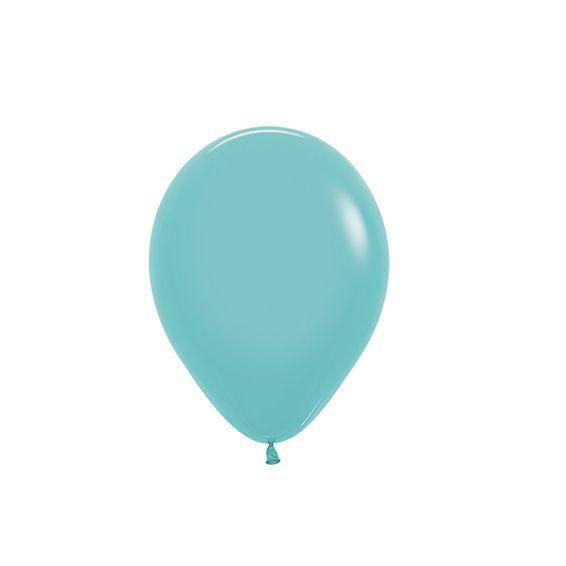 Balão de Festa Latex R5'' 12cm - Fashion Água Marinha - 50 unidades - Sempertex Cromus - Rizzo Festas