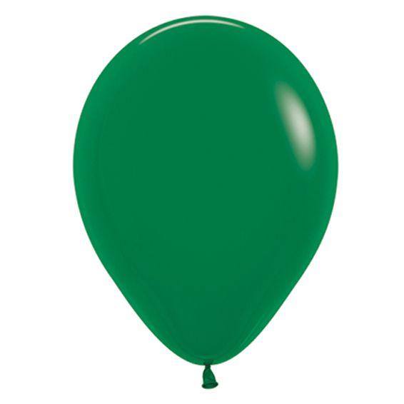 Balão de Festa Latex R12'' 30cm - Fashion Verde Selva - 50 unidades - Sempertex Cromus - Rizzo Festas