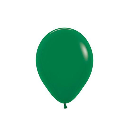 Balão de Festa Latex R5'' 12cm - Fashion Verde Selva - 50 unidades - Sempertex Cromus - Rizzo Festas