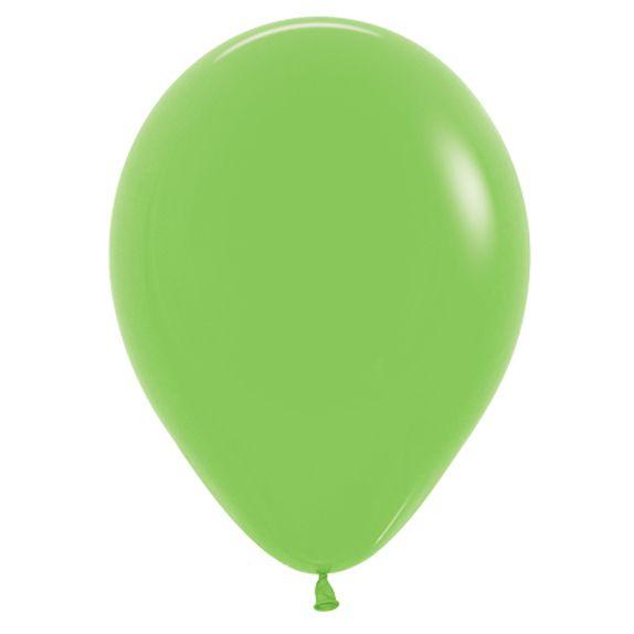 Balão de Festa Latex R12'' 30cm - Fashion Verde Lima - 50 unidades - Sempertex Cromus - Rizzo Festas