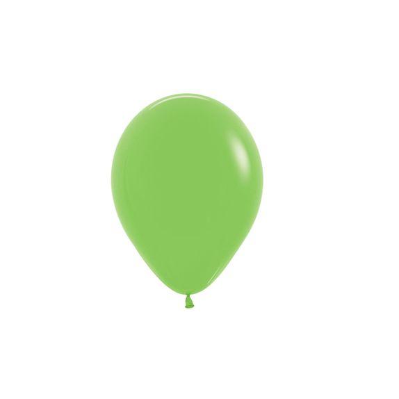 Balão de Festa Latex R5'' 12cm - Fashion Verde Lima - 50 unidades - Sempertex Cromus - Rizzo Festas