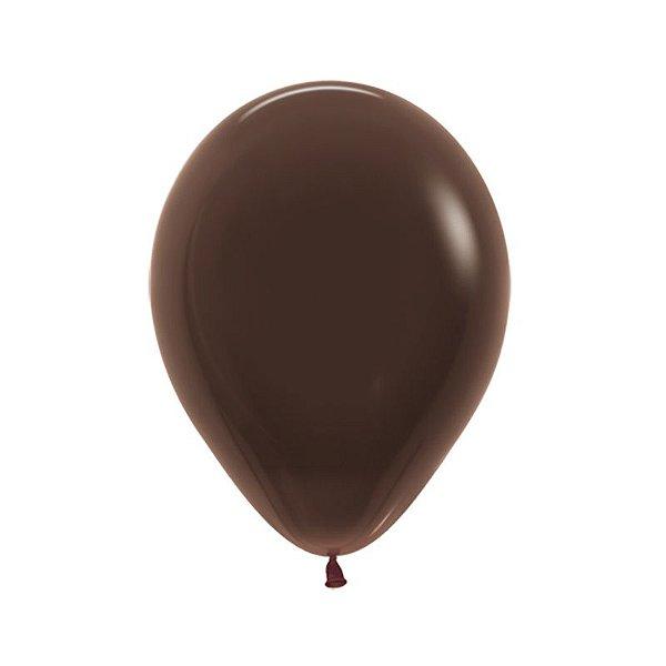 Balão de Festa Latex R10'' 25cm - Fashion Chocolate - 50 unidades - Sempertex Cromus - Rizzo Festas